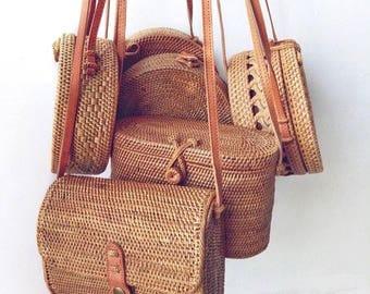 Rattan Bag / Ata Bag / Rectangle Bag / Box Bag / Rattan Rectangle Bag / Sol Bag / Tan Bag / Designer Bag / Luxury Bag / Bag