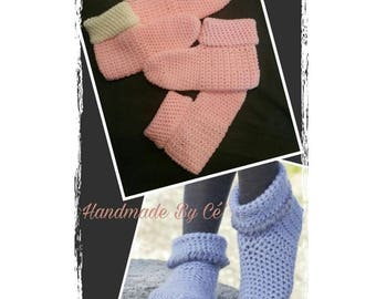 Slippers adult crochet - mixed woman or man - accessories - Christmas gift or birthday