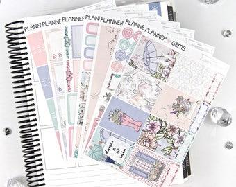 Rain Deluxe Weekly Planner Kit | 250+ Stickers | Planner Stickers | For Erin Condren LifePlanner