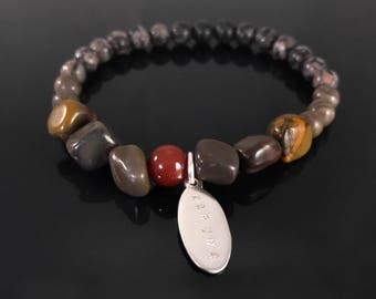 27 bead mala bracelet - Manifest your dreams - Gemstone bracelet - Brown bracelet - Healing bracelet - Power beads