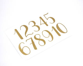 Customizable Number Decals, Wedding Table Number Decals, Table Numbers- Choose your color and size - Fast shipping