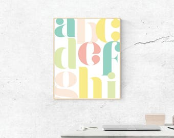 Letter, Digital Print, Letter Art, Love Art, Digital Download, Letter Wall Art, Wall Prints, Printable Art, Letter Poster