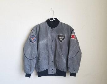 Vintage Acid Washed Los Angeles Raiders  (NWA) Starter Jacket Sz. S