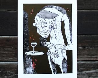 Linocut SIN Sheet 4/ Portrait/ People/ Graphic/ Picture/