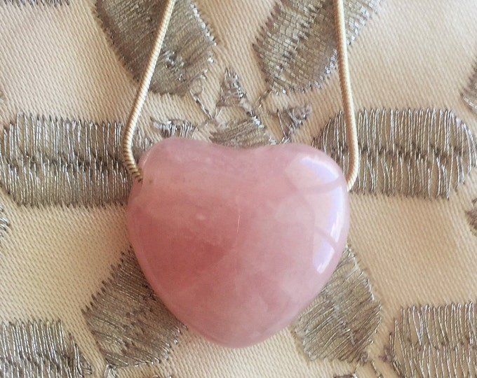 Unique Gifts for Women, Healing Pendant Jewelry Rose Quartz HEART Necklace with Reiki