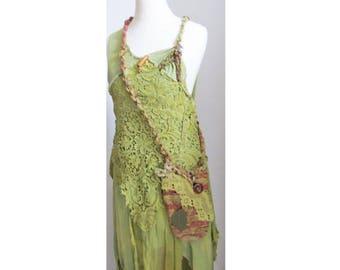 bohemian dress for fairies, wedding, festival