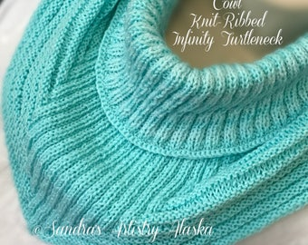 Cowl Knit-Ribbed Infinity Cowl (Fine)