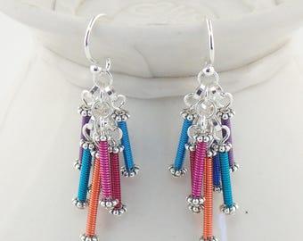 Wire Waterfall Earrings