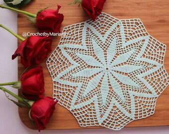 Mint Crochet Doily, Round crochet doily, Handmade doily, crochet lace doily, Crochet table decoration, Crochet item, easter doily