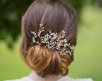 Bridal hair pins Wedding hair pins Set of two hair pins Pearl hair pins Floral Pearl Hair Pins Pearl bobby pin Wedding Headpiece