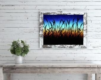 Sunset Landscape Painting, Landscape Instant Download, Sunset Landscape Printable, Landscape Sunset Print, Sky Sunset Art Print, Midwest Art