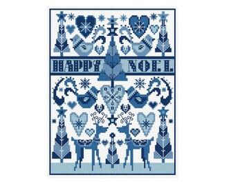 Folksy Noel - Durene J Cross Stitch Pattern - DJXS2237