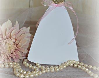 Bridal Shower Invitations, Wedding Dress Invitation, Bride Gown Cutout, Bridal Luncheon Invitation, Unique Personalized Bridal Shower Invite