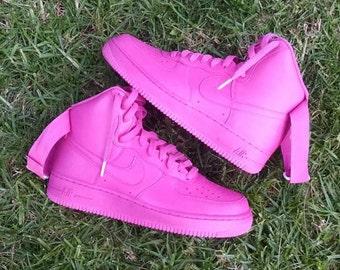 Pinkaholic Custom Nike Air Force 1 High Top
