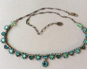 Ayala Bar Crystal Bead Mosaic Necklace