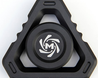 Mechforce - Deltacore Long Fidget Hand Spinner, Aluminum, Full Black