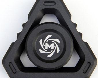 Mechforce - Deltacore Long Fidget Hand Spinner, Aluminum, Full Black