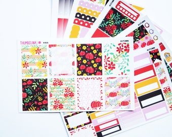 Autumn/Fall Planner Sticker Kit for the Erin Condren Life Planner, Kikki K, Filofax and more (K46)