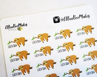 Lazy Day Sloth Stickers