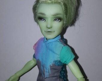 Custom monster High Porter Geiss Fashion Art Doll OOAK