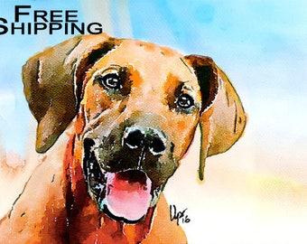 Watercolor custom pet portrait Custom pet portrait Original watercolor painting Dog portrait Pet portrait Cat portrait commission Dog lover