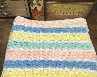 Vintage Afghan Blanket Throw Baby Blanket