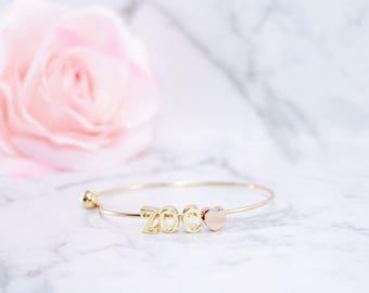 Custom Name, Letter Charm Bangle, Initial Bangle, Name Bangle, Gold Initial Bangle, Gold Bangle, Personalised Bangle, Bracelet, Rose Gold