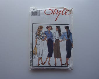 Style Sewing Pattern 1671. 80's Fashion Skirts. Size 12 14 16.  8 Pieces. Complete. Cut.