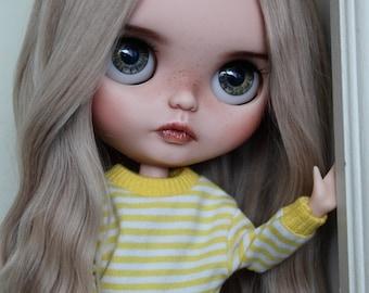 RESERVED Sadira - Custom Blythe Doll, OOAK Art Doll