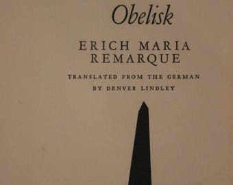 The Black Obelisk | Erich Maria Remarque (First Edition, Harcourt, Brace and Company, 1957)