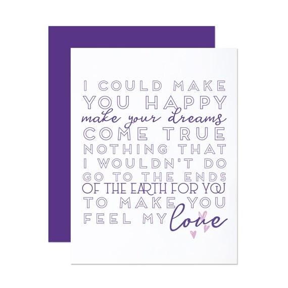 "Adele/ Billy Joel ""Feel My Love"" - Anniversary Card"