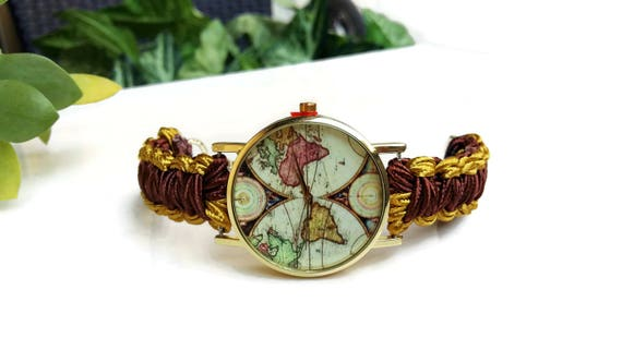 World map watch women world map wrist watch world map like this item gumiabroncs Image collections