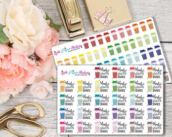 Shake Shake Shake - set of 28 or 56 stickers for your Erin Condren, Inkwell Press, Happy Planner or other calendar or planner!