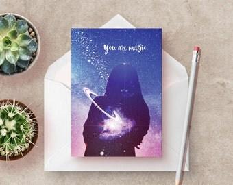 You are Magic, Set of 3 Stationery Cards, stationery set, blank note cards, modern stationary, art stationery, set of notecards