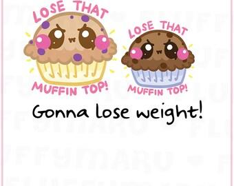 Muffin Top || Planner Stickers, Cute Stickers for Erin Condren (ECLP), Filofax, Kikki K, Etc. || DPS188