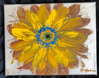 Original Oil Painting- Flower, Gerbera Daisy