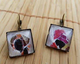 African themed earrings