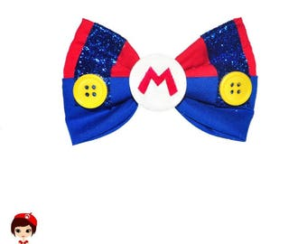 Mario Bros Inspired Character Bow - Nintendo Game Super Mario Brothers Yoshi Toad