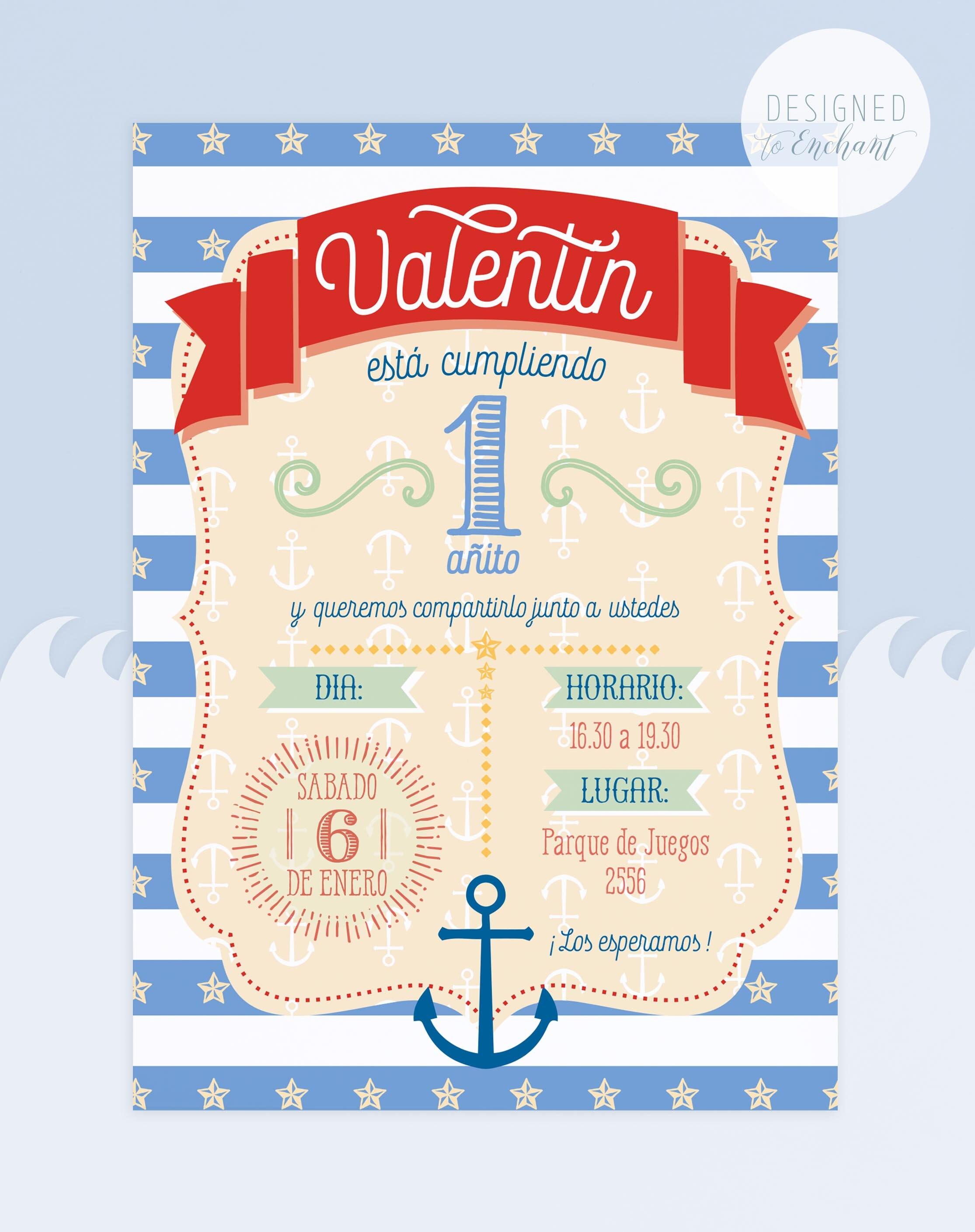 Nautical Sailor Invitation, Nautical Party Invite, Printable ...