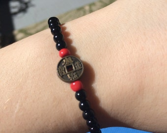 Chinese Good Luck Coin Bracelet