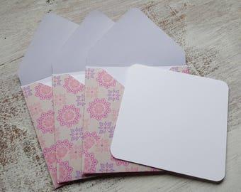 Boho Cards //  Set of 3 // Blank Cards // Boho Stationery // Note Card Set //