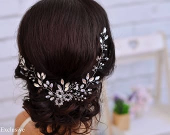 Wedding hair piece Bridal hairpiece Bridal hair piece Wedding hair flower Wedding hairpiece Bridal hair jewelry Crystal hairpiece wedding