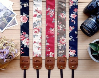 Fabric Flower - Camera Strap