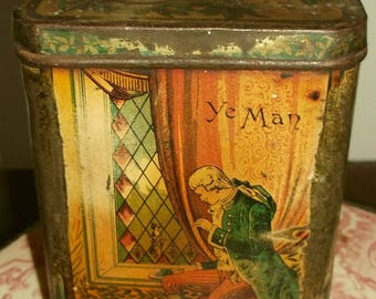 Antique Betrothal Tin