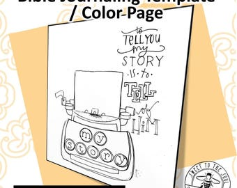 "Scripture Color Page / Journaling Template ""Mark 16:15""- digital download"