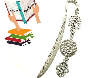 Letter Opener OR Bookmark, Antique Silver Charms Bookmark, Charmed Letter Opener, Book Lovers Gift, Cherished Bookmark, Special Keepsake