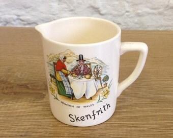Very Rare Vintage Skenfrith Souvenir Cream / Creamer Jug. New Devon Pottery - In Very Good Condition