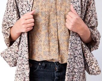 The reversible vintage silk kimono – One size fits all