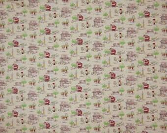 "Cotton Fabric, London Print, Beige Fabric, Apparel Fabric, Home Decoration, 60"" Inch Ethnic Fabric By The Yard ZBC8689B"