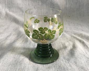 Vintage Roemer Green Grape Pattern Wine Glass